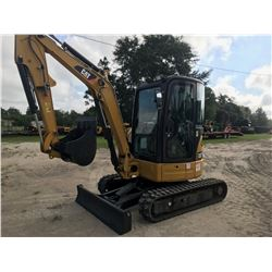 "2015 CAT 303.5E EXCAVATOR, VIN/SN:RKY04552 - 24"" BUCKET, AUX HYD, 5'-2"" STICK, BLADE, A/C, CAB, 12"""