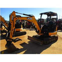"2015 JCB 8029CTS MINI EXCAVATOR, VIN/SN:02315115 - 4' 3"" STICK, BUCKET, HYD THUMB, SWING AWAY BOOM,"