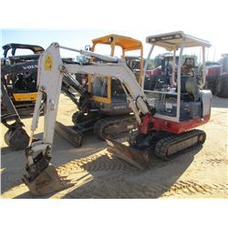 "2013 TAKEUCHI TB016 MINI EXCAVATOR, VIN/SN:116116400 - 4' STICK, 12"" BUCKET, CANOPY, METER READING 7"