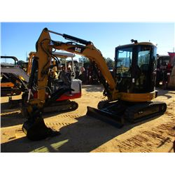 "CAT 303CR EXCAVATOR, VIN/SN:DMA04314 - 5'-6"" STICK, 18"" BUCKET, HYD THUMB, AUX HYD, BLADE, RUBBER TR"