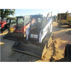 2013 BOBCAT T650 SKID STEER LOADER, VIN/SN:A3P017185 - CRAWLER, BUCKET, HIGH FLOW, CANOPY, METER REA