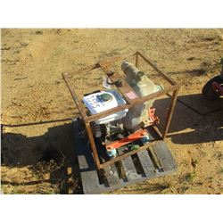 "MULTIQUIP 2"" TRASH PUMP, GAS ENGINE, (B9)"