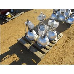 (4) OVERHEAD WAREHOUSE LIGHT FIXTURE (B9)