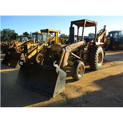 FORD 4500 LOADER BACKHOE, VIN/SN:82222 - BUCKET, CANOPY, METER READING 1,009 HOURS