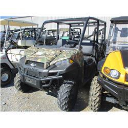 POLARIS 570 CREW, GAS ENGINE, ROLL BAR, DUMP BED, METER READING 688 HOURS