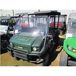 2015 KAWASAKI 4010 ATV, VIN/SN:JK1AFCR15FB524123 - 4X4, GAS ENGINE, WINDSHIELD, DUMP BED, METER READ