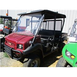 2015 KAWASAKI KAF620R ATV, VIN/SN:JK1AFCR13FB525772 - 4X4, GAS ENGINE, WINDSHIELD, DUMP BED, METER R