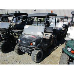 2015 EZ GO TERRAIN 250 ATV, VIN/SN:3095260 - SIDE BY SIDE, GAS ENGINE, WINDSHIELD, CANOPY, DUMP BED,