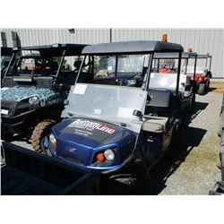 2015 EZ GO TERRAIN 250 ATV, VIN/SN:3098866 - SIDE BY SIDE, GAS ENGINE, WINDSHIELD, CANOPY, DUMP BED,