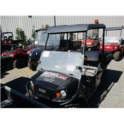 2015 EZ GO TERRAIN 250 ATV, VIN/SN:3095268 - SIDE BY SIDE, GAS ENGINE, WINDSHIELD, CANOPY, DUMP BED,