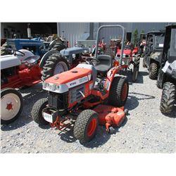 """KUBOTA B7300 FARM TRACTOR, VIN/SN:11382 - MFWD, 60"""" BELLY MOWER, ROLL BAR, METER READING 1224 HOURS"""