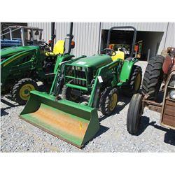 2012 JOHN DEERE 3032E FARM TRACTOR, VIN/SN:411643 - MFWD, JOHN DEERE 305 LOADER ATTACH, BUCKET, ROLL