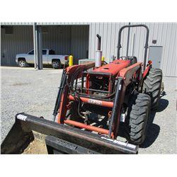 MASSEY FERGUSON 451 FARM TRACTOR, VIN/SN:9362BP04143 - MFWD, 2 REMOTES, BUSH HOG M34 FRONT END LOADE