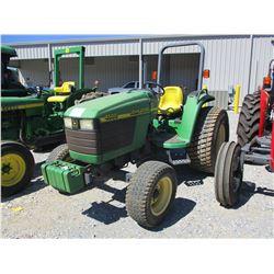 JOHN DEERE 4500 FARM TRACTOR, VIN/SN:250248 - ROLL BAR, 44X18.00-20 TIRES, METER READING 700 HOURS