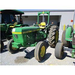 JOHN DEERE 2240 FARM TRACTOR, VIN/SN:267467 - ROLL BAR, ONE REMOTE, 16.9-28 TIRES