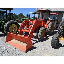 KUBOTA M6800 FARM TRACTOR, VIN/SN:67276 - MFWD, ONE REMOTE, KUBOTA LA1002 FRONT LOADER ATTACH, BUCKE