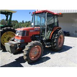 KUBOTA M6800 FARM TRACTOR, VIN/SN:68581 - MFWD, 2 REMOTES, CAB, A/C, 16.9-30 TIRES, METER READING 1,