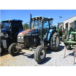 NEW HOLLAND TS90 FARM TRACTOR, - 3 REMOTES, CAB, A/C, 18.4-30 TIRES, METER READING 2,735 HOURS (COUN