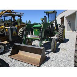 JOHN DEERE 4010 FARM TRACTOR, VIN/SN:21T25301 - 1 REMOTE, CANOPY, FRONT LOADER BUCKET, 18.4-34 TIRES