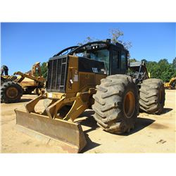 2010 CAT 545C SKIDDER, VIN/SN:54500511 - DUAL ARCH, WINCH, CAB, A/C, 35.5L-32 TIRES, METER READING 1