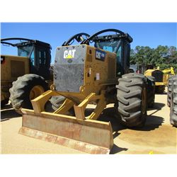 2015 CAT 525D SKIDDER, VIN/SN:GKP00164 - SINGLE ARCH, WINCH, CAB, A/C, 30.5L-32 TIRES, METER READING