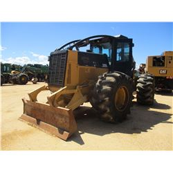 2007 CAT 525C SKIDDER, VIN/SN:52500265 - DUAL ARCH, WINCH, CAB, A/C, 30.5L-32 TIRES, METER READING 1