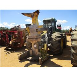JOHN DEERE 843J FELLER BUNCHER, VIN/SN:614990 - JOHN DEERE FD22B CENTER POST SAW HEAD, CAB, A/C, 30.