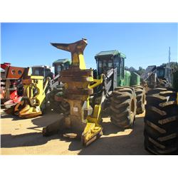 2012 JOHN DEERE 643K FELLER BUNCHER, VIN/SN:640957 - JOHN DEERE FD22B CENTER POST SAW HEAD, CAB A/C,