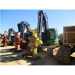 2014 JOHN DEERE 753J TRACK FELLER BUNCHER, VIN/SN:254037 - FD21B SAW HEAD, CAB, A/C, METER READING 4