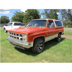 1981 GMC JIMMY VIN/SN:1G5EK18H0BF512896 - 4X4, GAS ENGINE, A/T