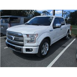 2016 FORD F150 PLATNUM PICKUP, VIN/SN:1FTEW1CG9GFA50177 - CREW CAB, RCO BOOST GAS ENGINE, A/T, BED C
