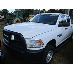 2014 DODGE RAM 2500 HD PICK UP, VIN/SN:3C6TR5CT5EG318731 - 4X4, CREW CAB, V8 GAS ENGINE, A/T, ODOMET