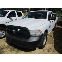 2015 DODGE RAM 1500 PICK UP, VIN/SN:1C6RR6FG8F8578534 - EXTENDED CAB, V8 GAS ENGINE, A/T, ODOMETER R