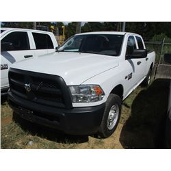 2015 DODGE RAM 2500 PICK UP, VIN/SN:3C6TR4CT4FG585466 - EXTENDED CAB, V8 GAS ENGINE, A/T, ODOMETER R