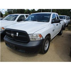 2014 DODGE RAM 1500 PICK UP, VIN/SN:1C6RR6FG3E5350374 - EXTENDED CAB, V8 GAS ENGINE, A/T, ODOMETER R