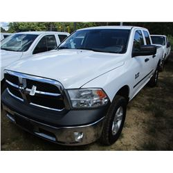 2013 DODGE RAM 1500 PICKUP, VIN/SN:1C6RR6FP6DS573023 - CREW CAB, GAS ENGINE, A/T, ODOMETER READING 1