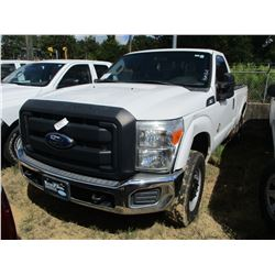 2012 FORD F250 PICK UP, VIN/SN:1FTBF2BT5CEB13752 - 4X4, POWER STROKE DIESEL ENGINE, A/T, ODOMETER RE