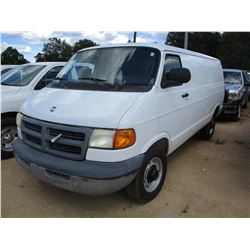 2001 DODGE RAM 3500 VAN, VIN/SN:2B7KB3141K537818 - GAS ENGINE, A/T