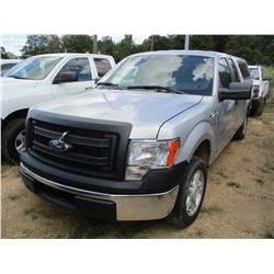 2013 FORD XL PICKUP, VIN/SN:1FTEX1CM7DFB69506 - V8 GAS ENGINE, A/T, LEER BED COVER, ODOMETER READING