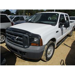 2006 FORD F350 PICKUP TRUCK, VIN/SN:1FTSW30546EC74172 - CREW CAB, V8 GAS, A/T, ODOMETER READING 130,
