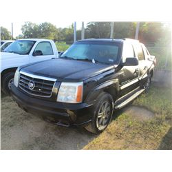 2002 CADILLAC ESCALADE EXT VIN/SN:3GYEK63N82G269821 - GAS ENGINE, A/T, ODOMETER READING 249,546 MILE