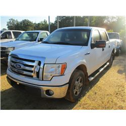 2010 FORD F150 XLT PICK UP, VIN/SN:1FTFW1CV7AFA48468 - CREW CAB, V8 GAS ENGINE, A/T, ODOMETER READIN