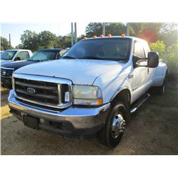 2002 FORD F350 DUALLY PICK UP, VIN/SN:1FTWX33F12EB03800 - 4X4, EXT CAB, POWER STROKE DIESEL ENGINE,