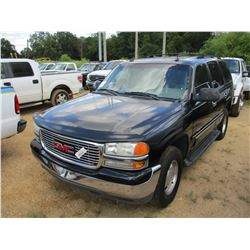 2003 GMC YUKON VIN/SN:1GKEC132X3J125538 -GAS ENGINE, A/T, 3RD ROW SEATING, ODOMETER READING 165,377