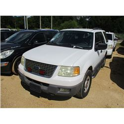 2005 FORD EXPEDITION XLT SUV, VIN/SN:1FMPU16585LA90219 - V8 GAS ENGINE, A/T, ODOMETER READING 145,20