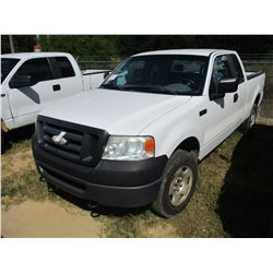 2007 FORD F150 PICK UP, VIN/SN:1FTPX14V57FA48980 - 4X4, EXTENDED CAB, V8 GAS ENGINE, A/T, ODOMETER R