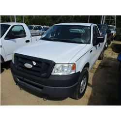 2007 FORD F150 XLT PICK UP, VIN/SN:1FTRF14W67NA82369 - 4X4, GAS ENGINE, A/T, LONG BED, ODOMETER READ