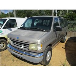 1995 FORD CLUB WAGON VAN, VIN/SN:1FBHE31H9SHB48778 - GAS ENGINE, A/T, 10 PASSENGER, ODOMETER READING