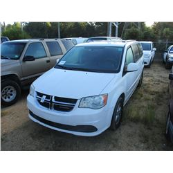 2012 DODGE GRAND CARAVAN VIN/SN:2C4RDGCG5CR353762 - GAS ENGINE, A/T (COUNTY OWNED)