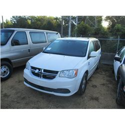 2012 DODGE GRAND CARAVAN VIN/SN:2C4RDGCG3CR353761 - GAS ENGINE, A/T, ODOMETER READING 169,142 MILES